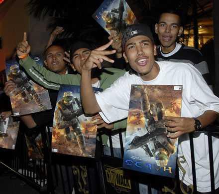 Fans köade i Universal City, Kalifornien.
