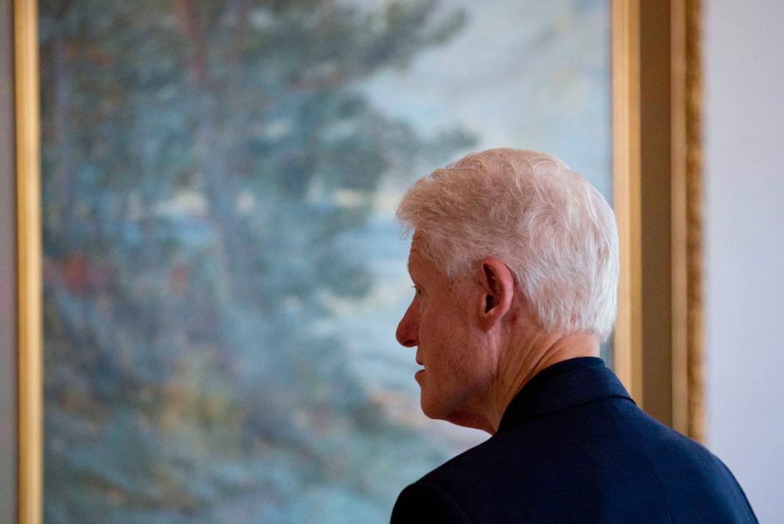 Bill Clinton i miljardären Anders Wiklöfs hus.