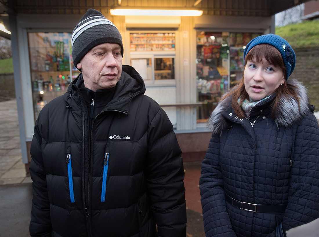 Sergey, 55, och dottern Olga, 27.