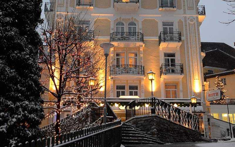Hotellet Salzburger Hof är ett populärt resmål för svenska skidälskare