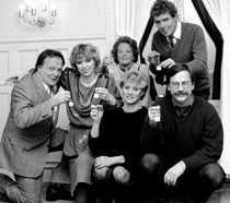 Tv-priset 1983. Gunnar Hellström, Stina Lundberg Dabrowski, Gun Olhagen, Sune Kempe, Monica Eek, Sven Melander.