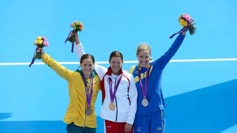 Lisa Nordén på OS-pallen.