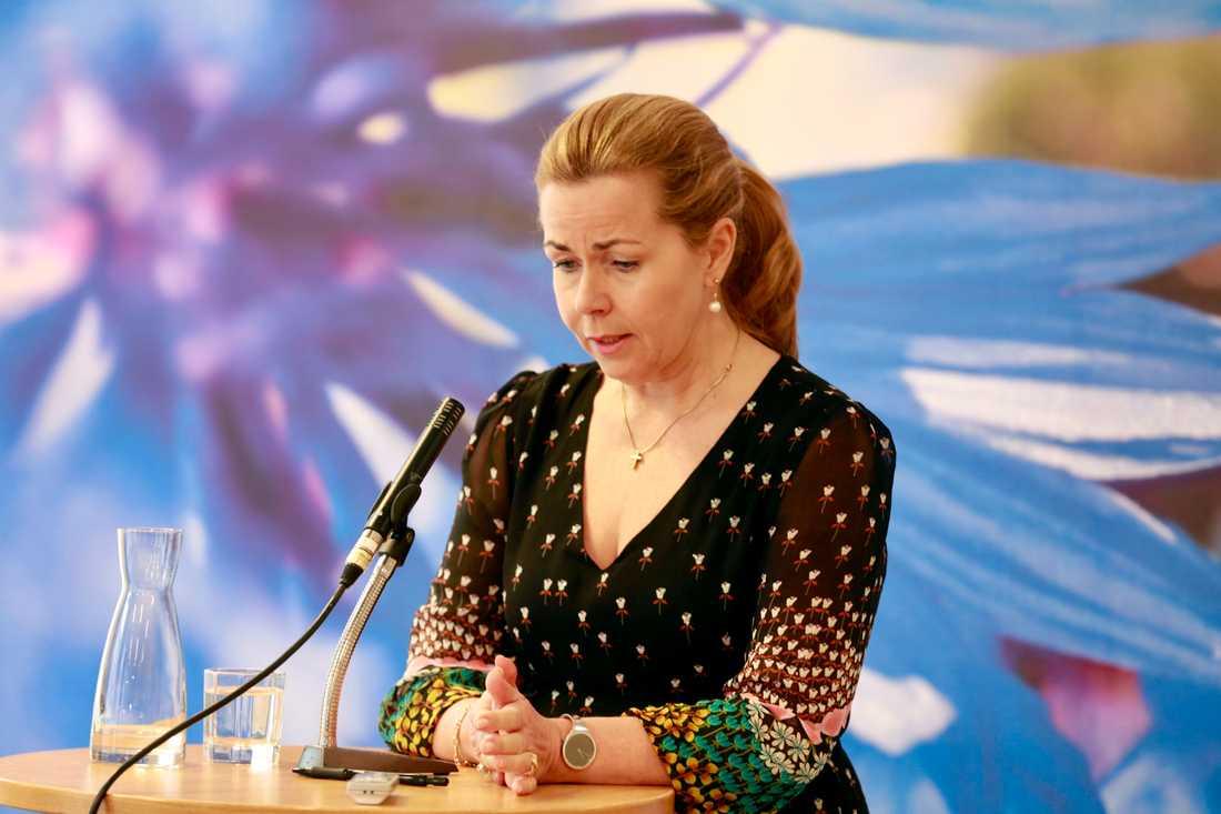 EU-parlamentariker Cecilia Wikström (L) sparkades ut av det egna partiet sedan hennes styrelseplatser i börsnoterade bolagen Elekta och Beijer Alma hamnat i fokus. Arkivbild.