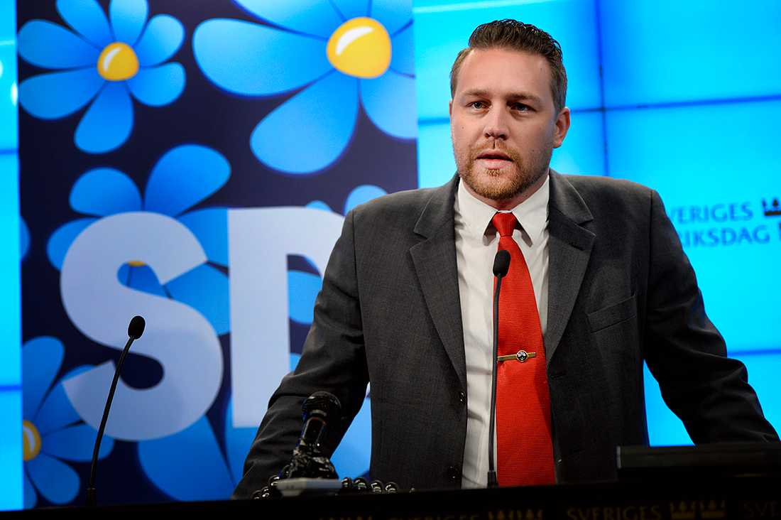 Mattias Karlsson, vikarierande partiledare för SD.