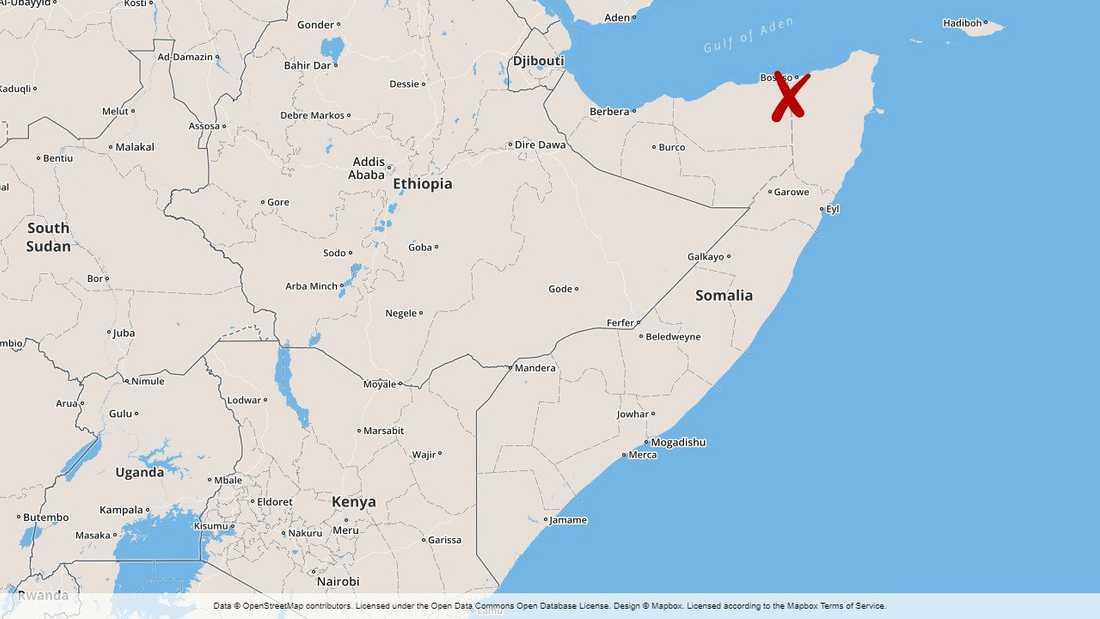 Bosaso i Puntland i Somalia.
