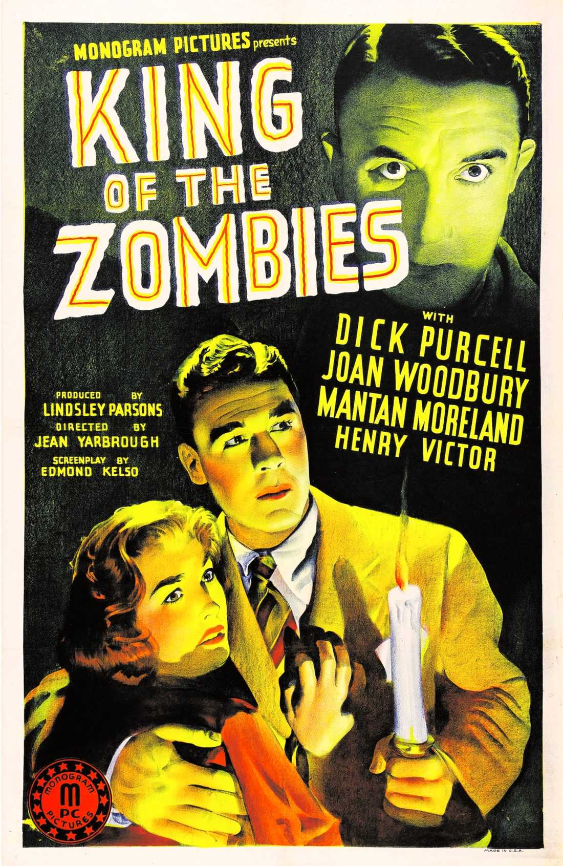 """Filmaffisch för """"King of the zombies"""" (1941)."""