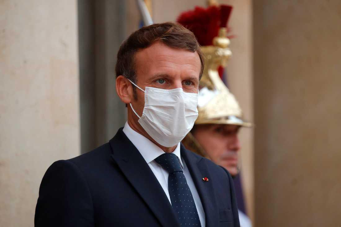 Frankrikes president Emmanuel Macron. Arkivbild.