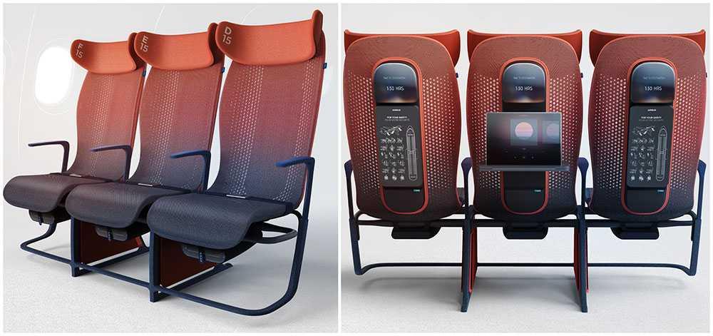 En ny typ av flygplanssäte ska göra flygupplevelsen bekvämare för passagerare i ekonomiklass.
