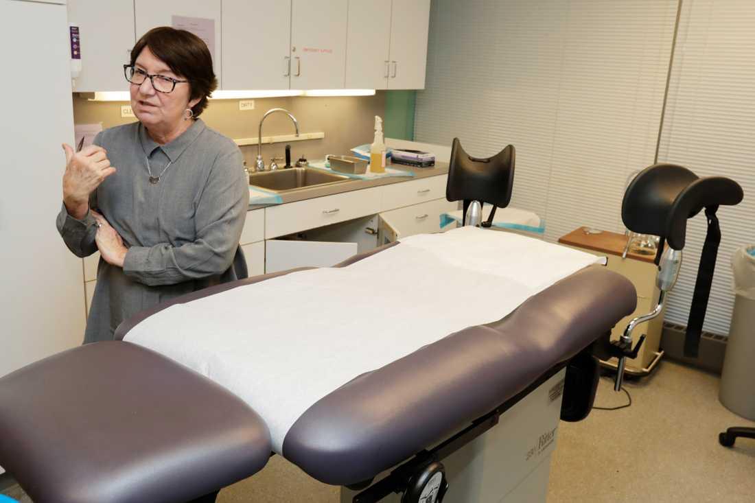 En abortklinik i Cleveland i Ohio i USA. På fotot står mottagningens chef Chrisse France. Arkivbild.