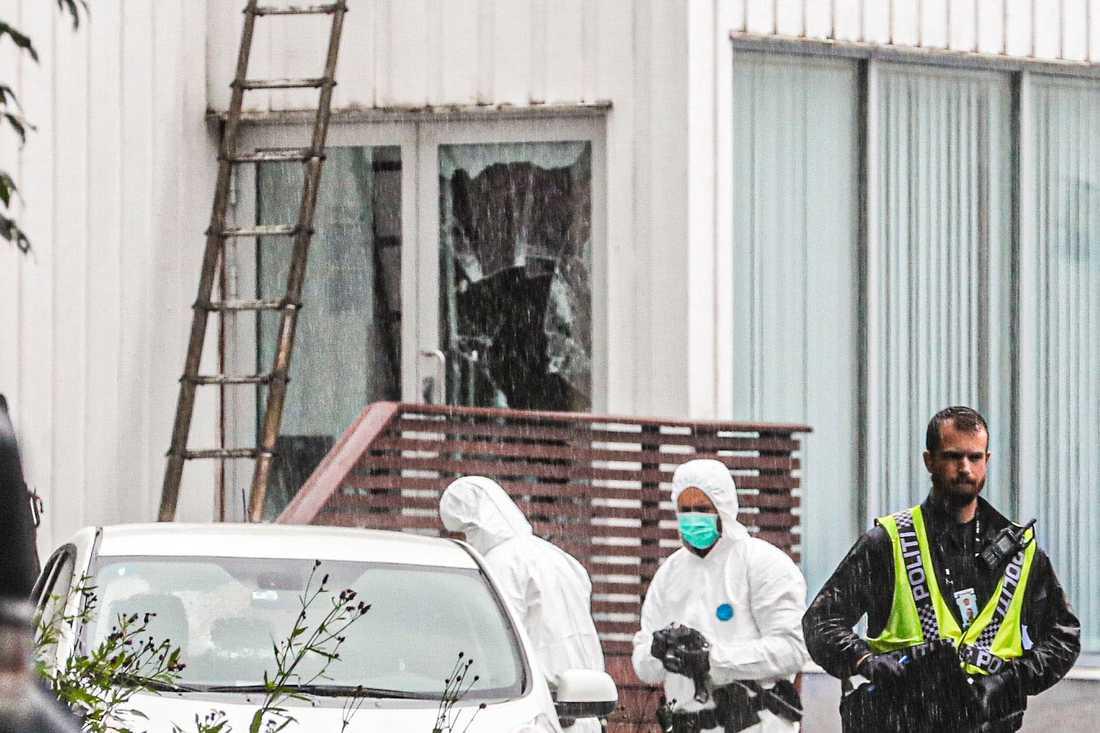 Moskén Al-Noor Islamic Centre i Bærum, Norge, där misstänkte terroristen Philip Manshaus tog sig in.