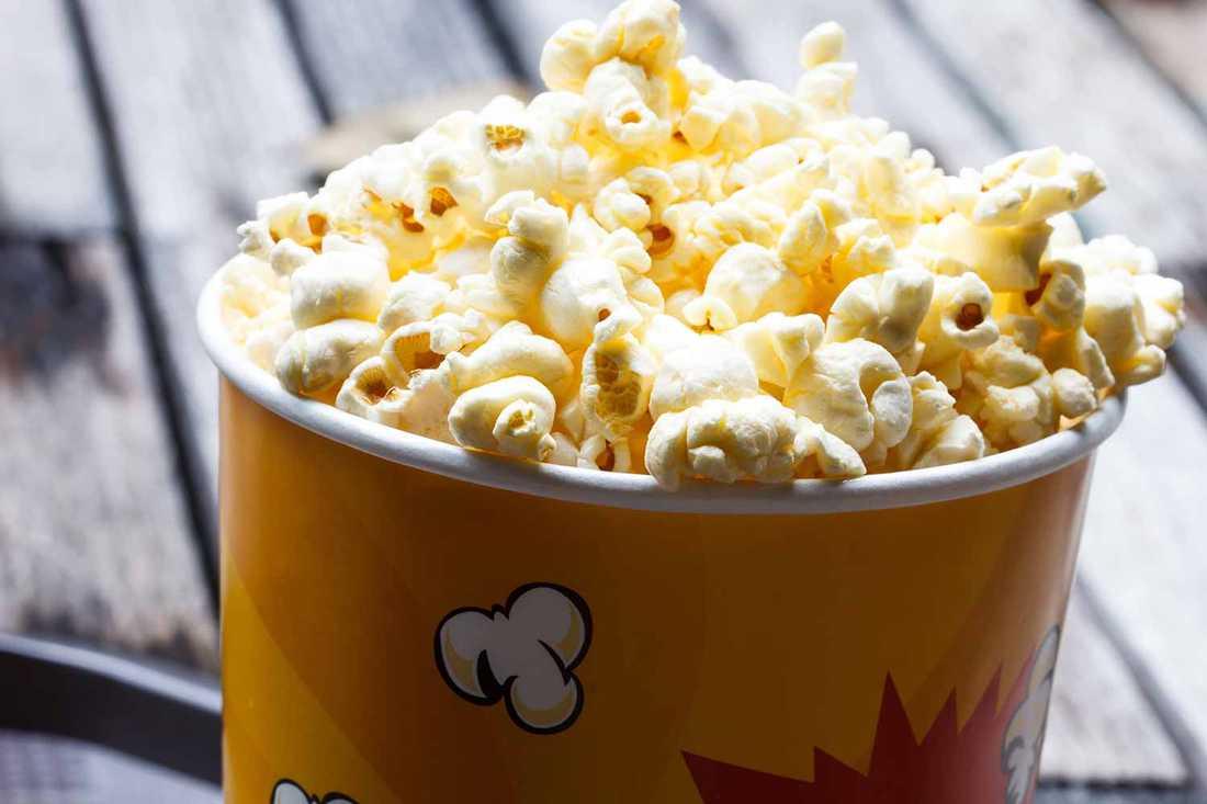 Popcorn är ok.