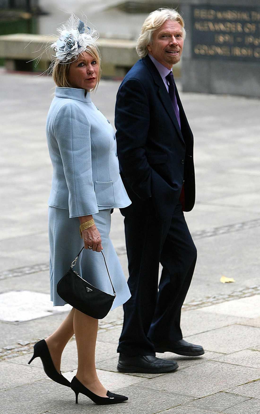 Richard Branson och hans fru.