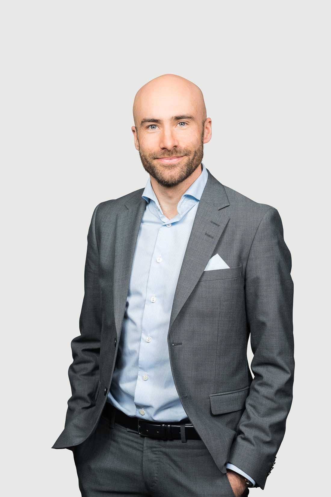 Linus Fugl, bedrägeriexpert på Danske bank.