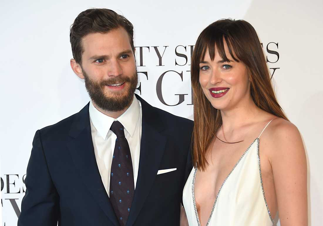 "Jamie Dornan tillsammans med ""50 shades of Grey""-kollegan Dakota Johnson"