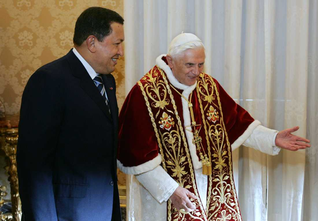 Träffar påven Benedictus XVI 2006.