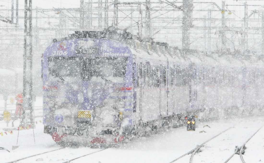 Ett tåg har krockat med en skoter. Arkivbild.