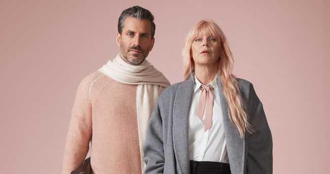 """Författaren Jens Lapidus och artisten Kajsa Grytt i Åhléns kampanj """"Bryt klädmaktsordningen"""" 2016."""