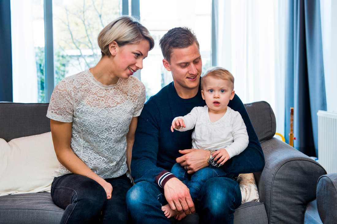 Med familjen i Rotterdam under Feyenoord-tiden.