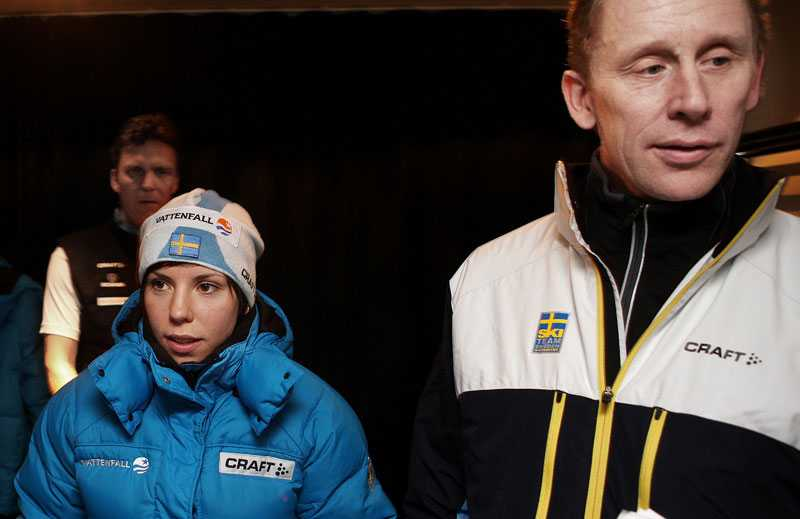 Charlotte Kalla och Gunde Svan.