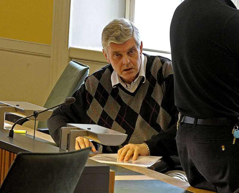 Göran Lindberg under rättegången mot honom.