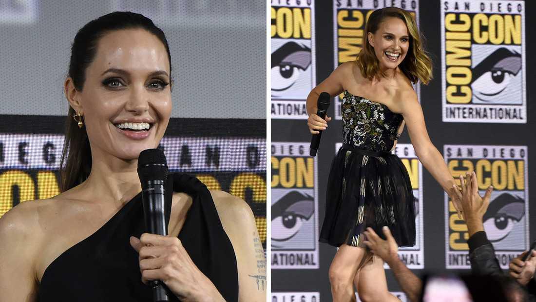 Angelina Jolie (till vänster) och Natalie Portman.