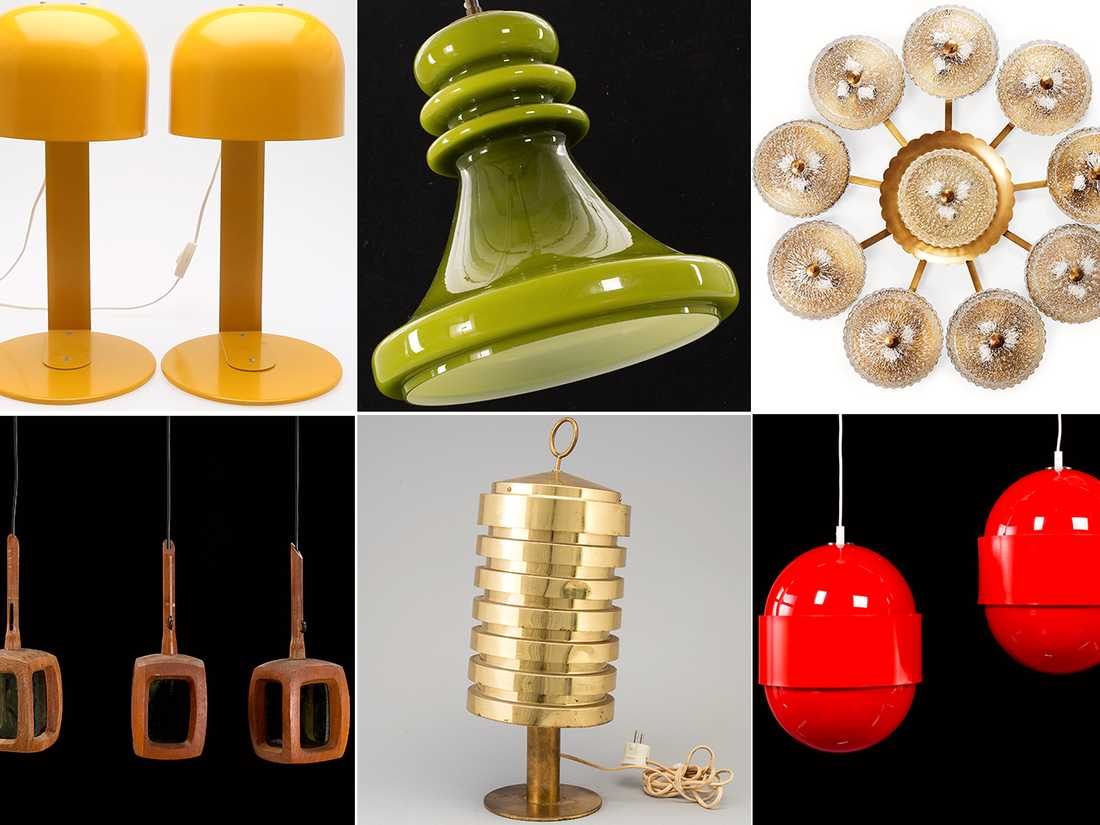 "teak"" i Belysning & Lampor Auctionet"