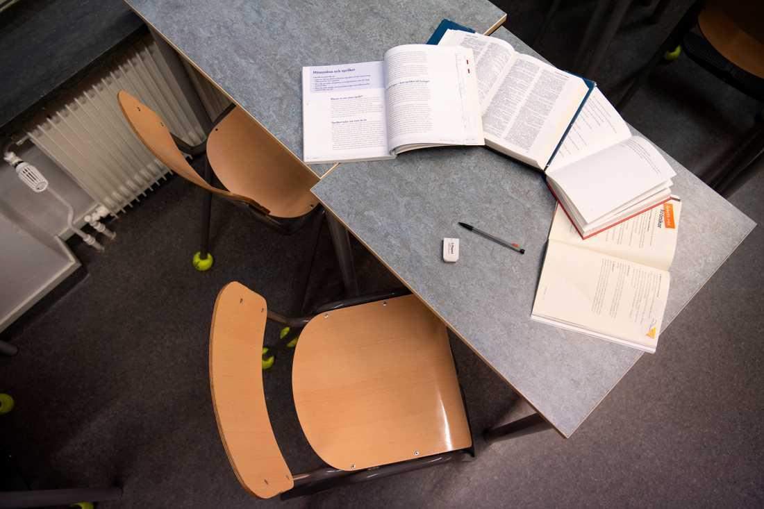 Beslutet att en skola ska övergå till distansundervisning bör inte landa på rektorer, tycker Lärarförbundet. Arkivbild.