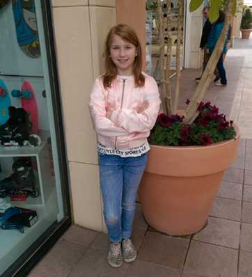 Renée Hillgren, 12 år gammal, räddade mamma Malins liv.