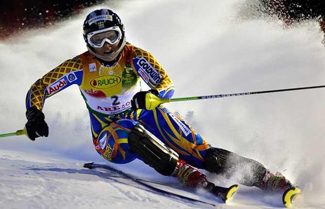 Brons i slalom Anjas fjärde medalj i Åre.