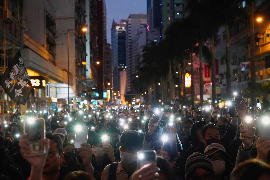 Ny stor demonstration i Hongkong i dag.