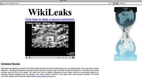 Skärmdump Wikileaks.