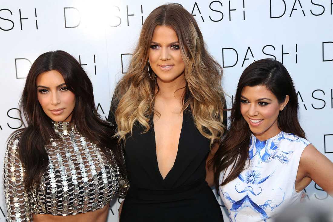 Kim, Kourtney och Khloé Kardashian.