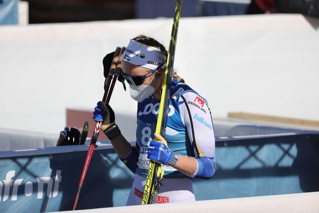 Linn Svahn var irriterad efter fredagens sprint.