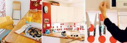 Stor effekt med små medel Med lite färg, dekorplast och nya handtag får ett sömnigt kök nytt liv.