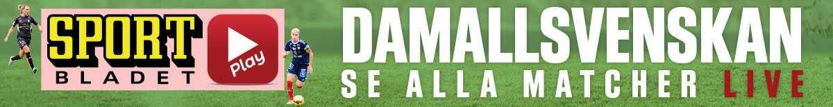 15.00: Se damallsvenskan live på Sportbladet Play