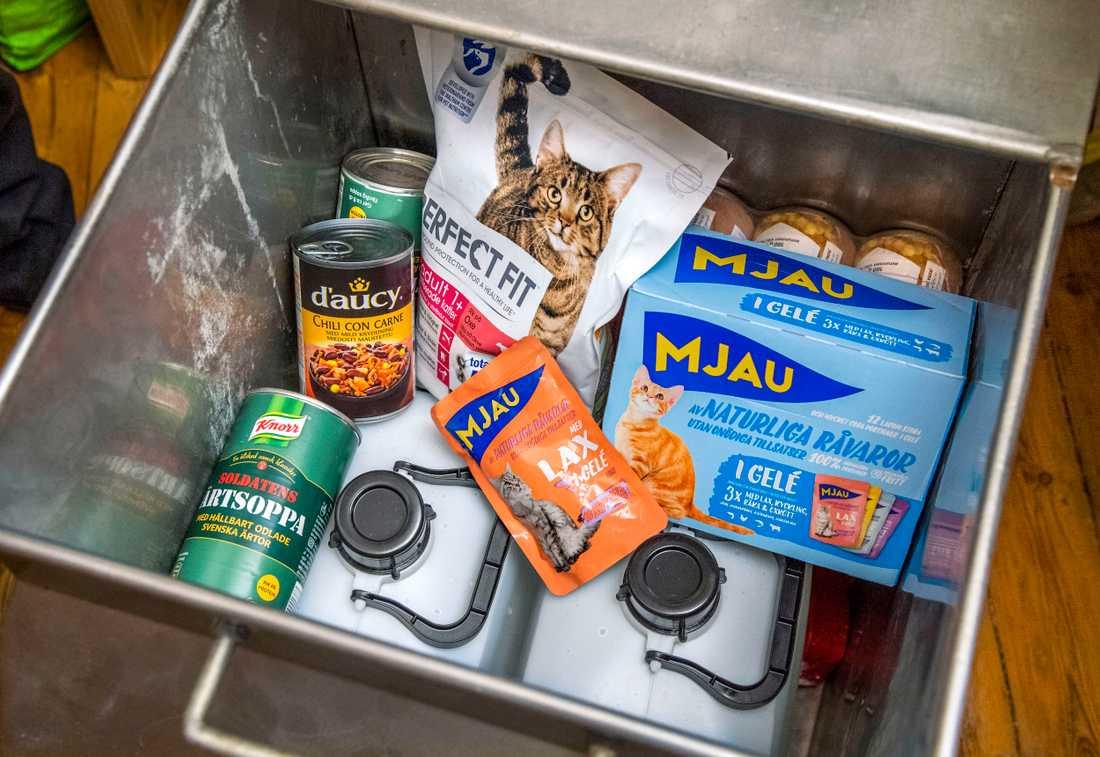Förnödenheter för katt.