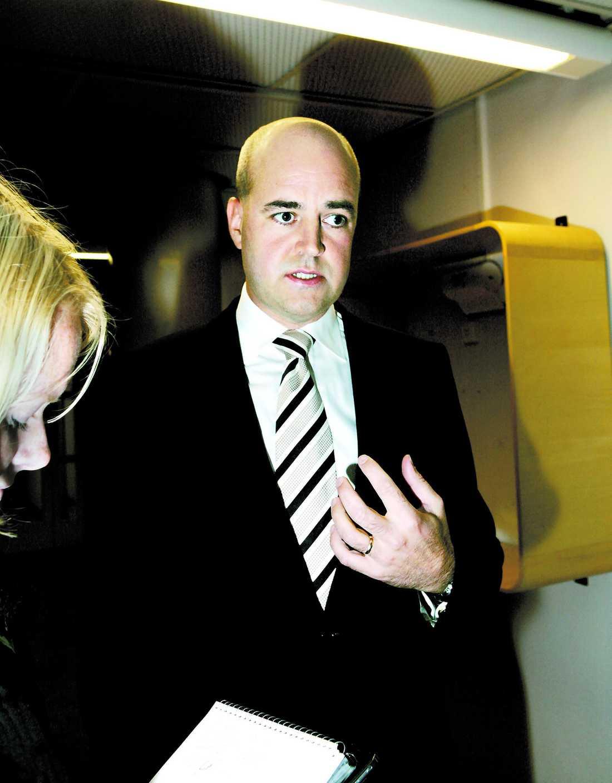 """""""Lynchstämning"""" Fredrik Reinfeldt ska enligt uppgift ha pressat sin partikamrat Karl Sigfrid i FRA-frågan.Foto. magnus sandberg"""