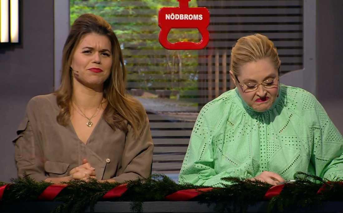 Hanna Dorsin och Emma Molin.