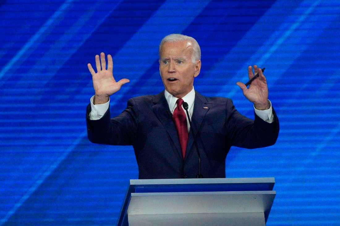 Joe Biden är favoriten.