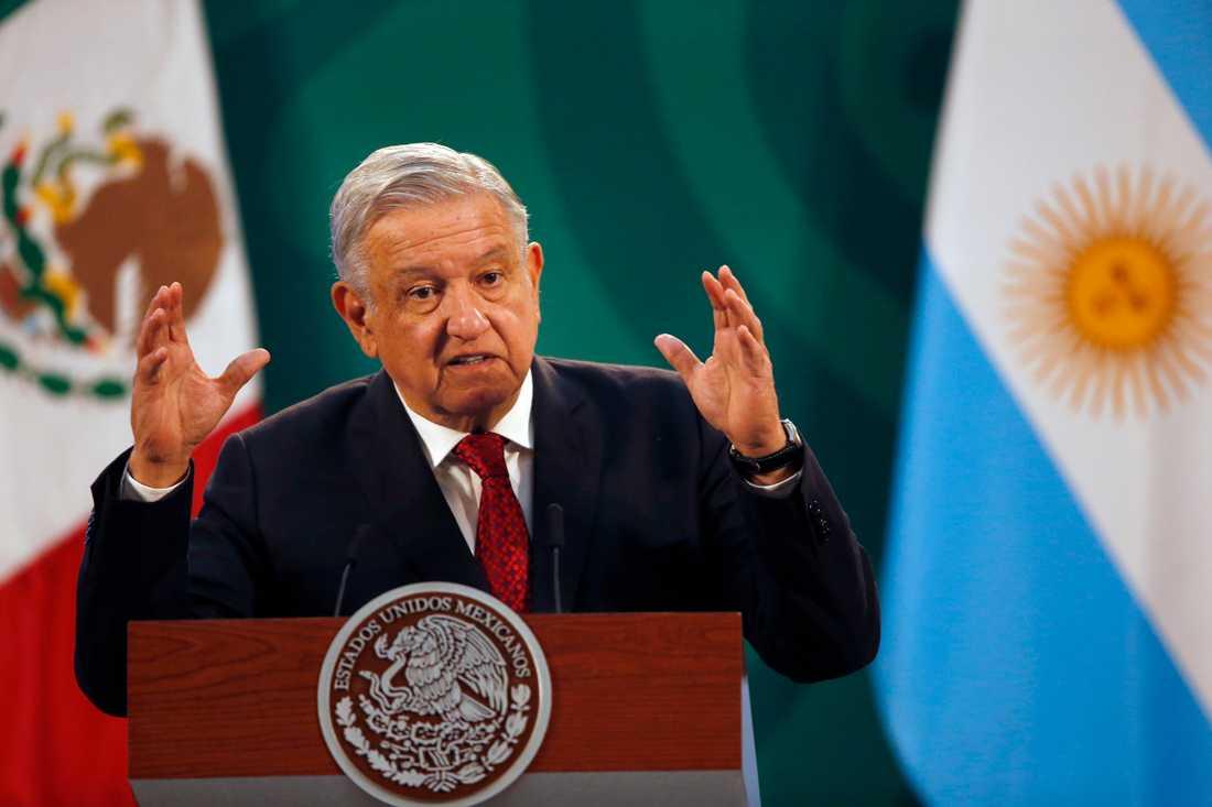 President Andrés Manuel López Obrador vill ha hjälp från USA för att få fart på vaccinationsprogrammet i Mexiko. Arkivbild