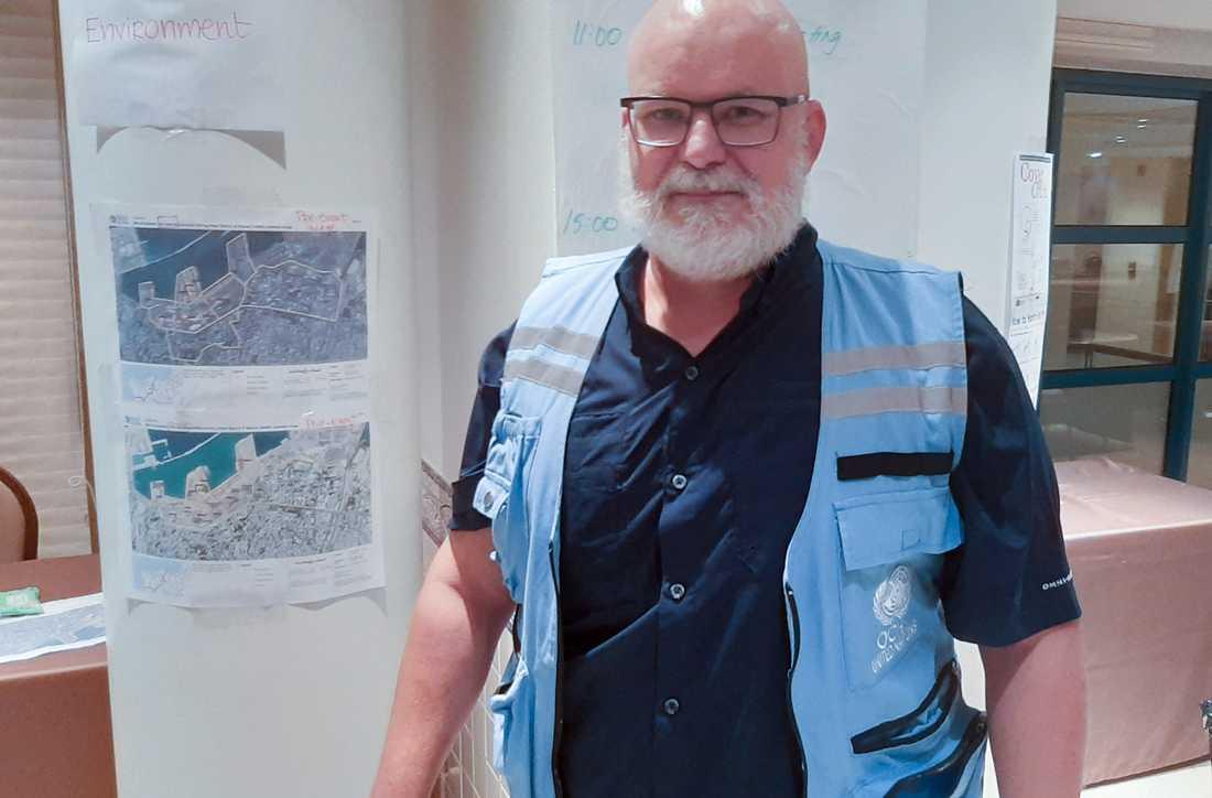 Jesper Folkesson vid MSB är på plats för FN:s krisbedömningsgrupp i Beirut.