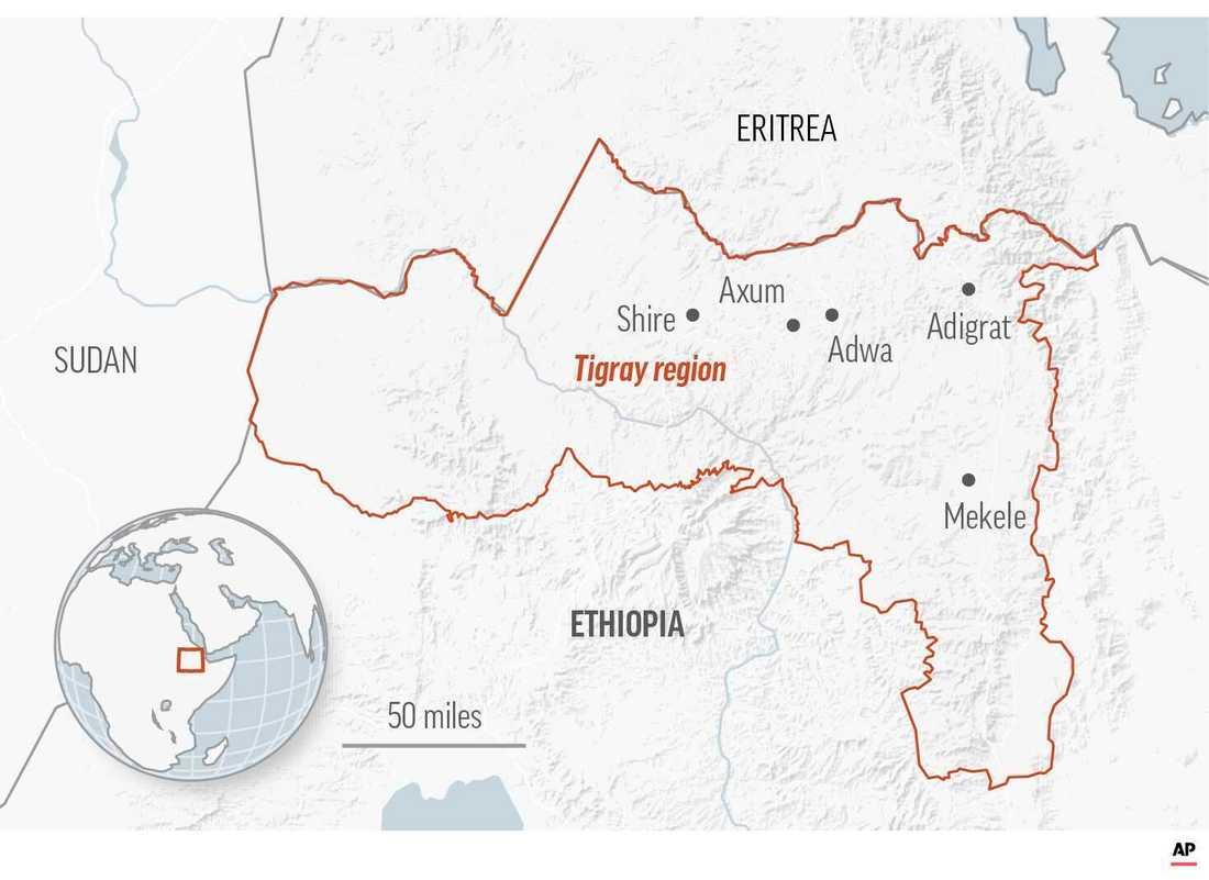 Tigrayregionen i Etiopien.