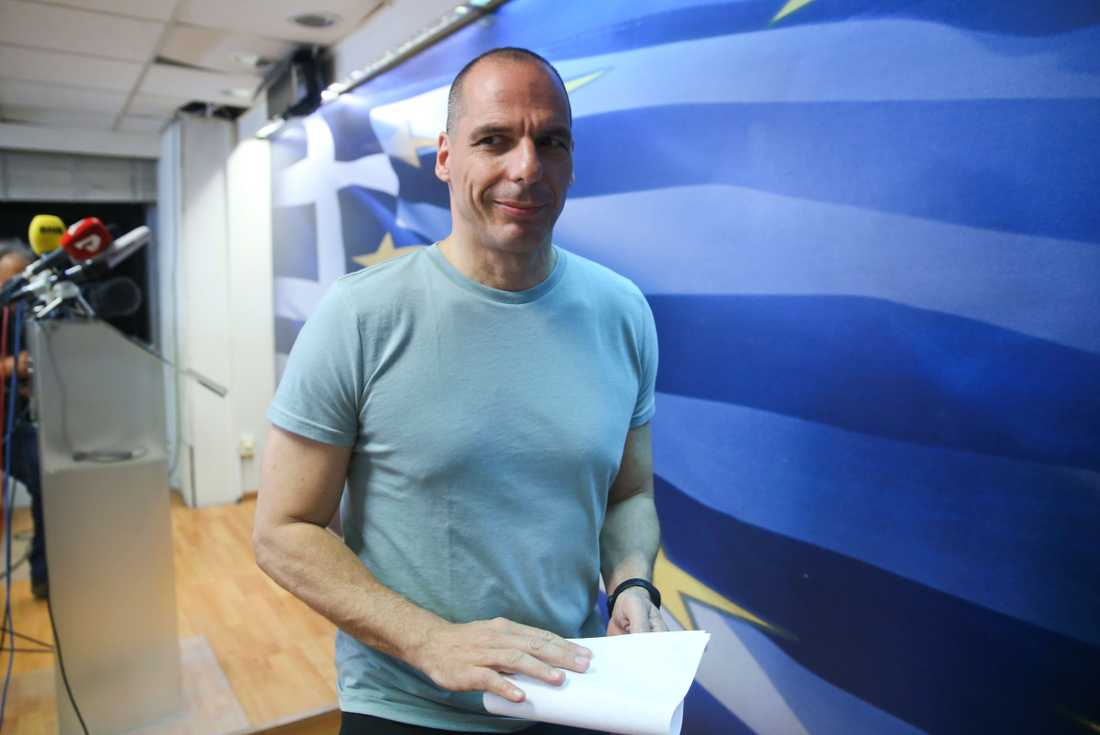 "Greklands finansminister Yanis Varoufakis: ""Nej-sidan har vunnit en modig seger"""
