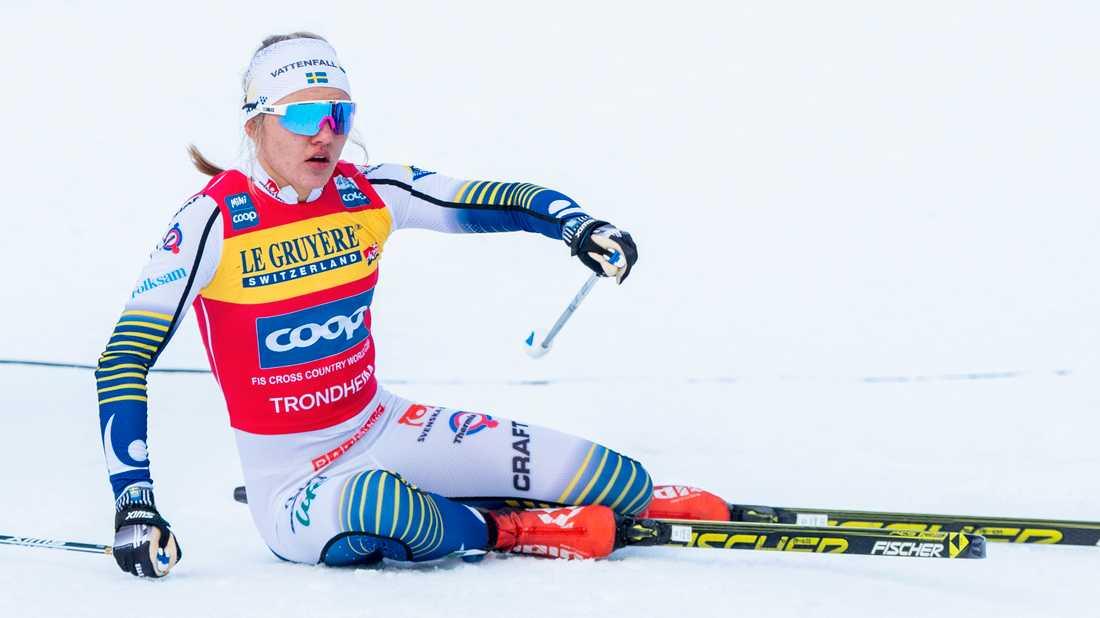 Linn Svahn gick i mål som fyra i semifinalen i Trondheims sprint, den femte etappen av Ski Tour 2020.