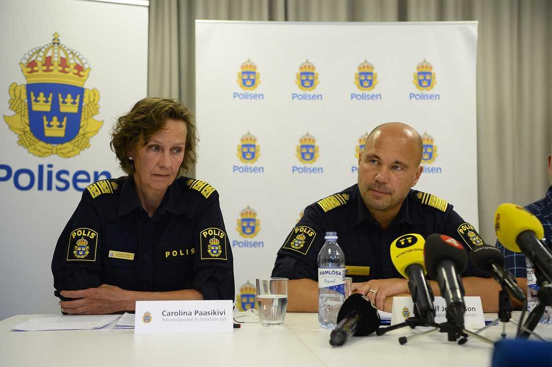 """""""Konfliktläget i de kriminella kretsarna är mycket allvarligt just nu"""", säger Ulf Johansson, regionpolischef i Stockholm."""