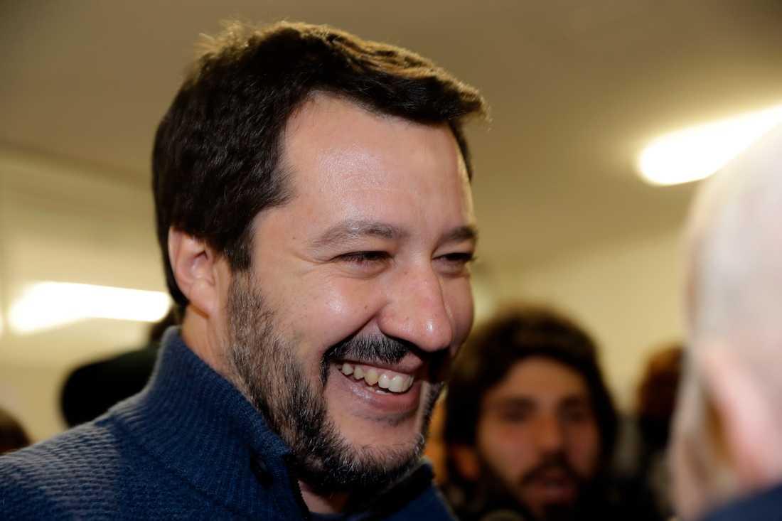 Främlingsfientliga Legas ledare Matteo Salvini.