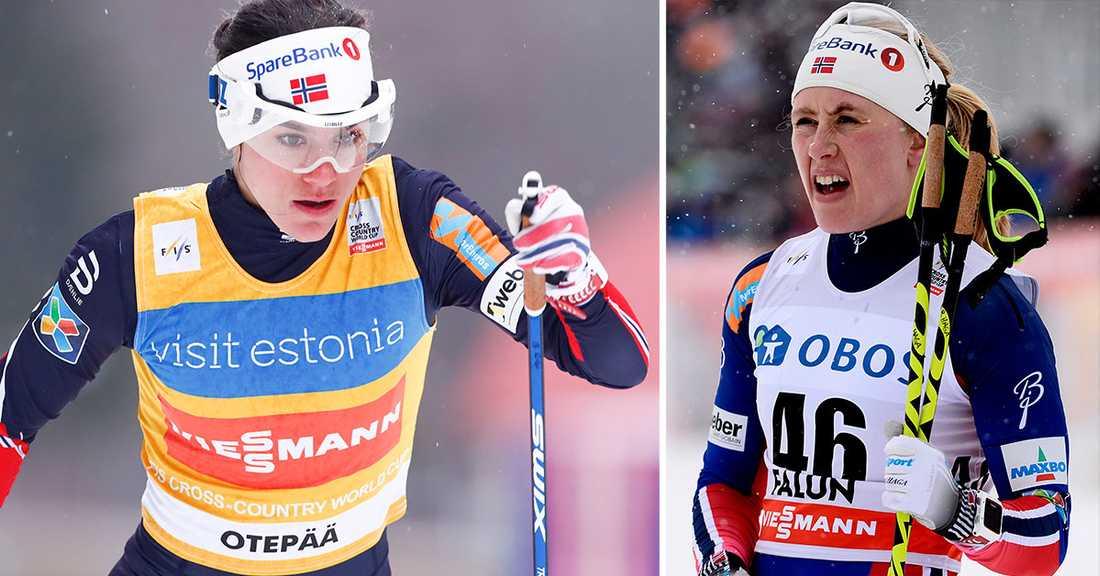 Heidi Weng och Ragnhild Haga.