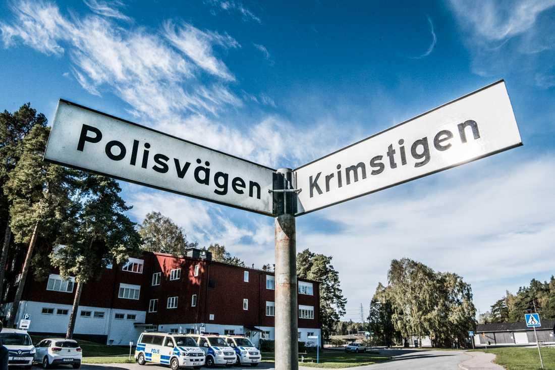 Polishögskolan i Sörentorp i Solna. Arkivbild.