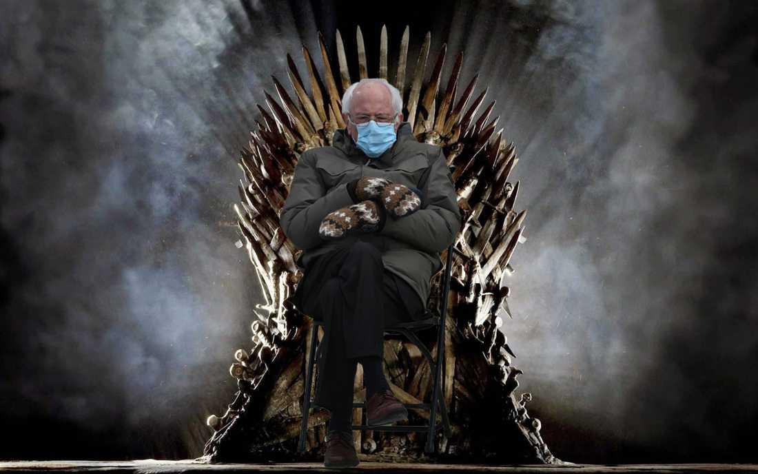 En av alla versioner av Bernie Sanders-memet som cirkulerar efter Joe Bidens installation