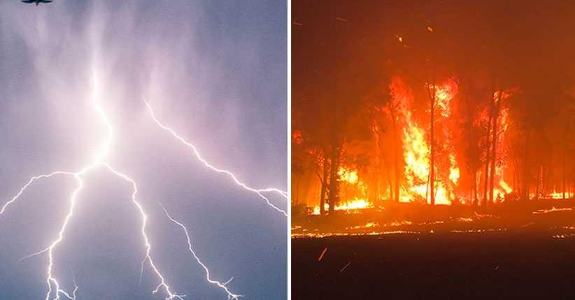 Dunderåska över Sverige – MSB befarar skogsbränder